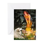 Fairies / Gr Pyrenees Greeting Cards (Pk of 10)