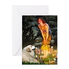 Fairies / Gr Pyrenees Greeting Card