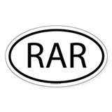 RAR Oval Decal