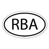 RBA Oval Decal