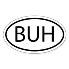 BUH Oval Decal