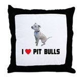 I Love Pit Bulls Throw Pillow