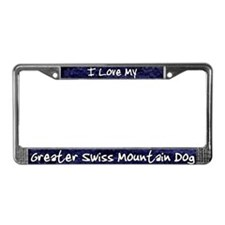 Funky Love Greater Swiss License Plate Frame