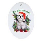 Shih Tzu 'Tis Oval Ornament