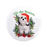 Shih Tzu 'Tis 3.5&quot; Button