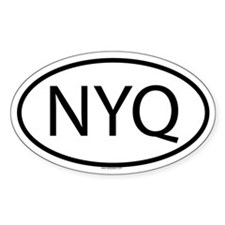 NYQ Oval Decal