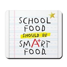 School Food Smart Food Mousepad