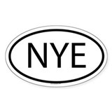 NYE Oval Decal