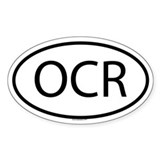 OCR Oval Decal