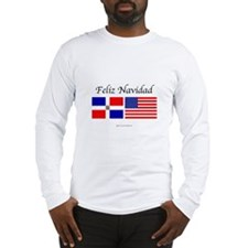 dominicanrepublic feliz navid Long Sleeve T-Shirt