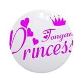 Tongan princess Ornament (Round)