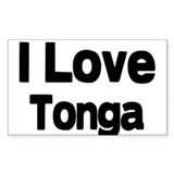 i love Tonga Rectangle Decal