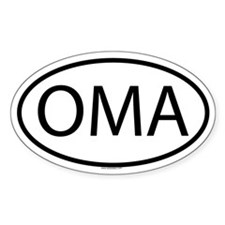 OMA Oval Bumper Stickers