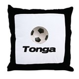 Tonga soccer Throw Pillow