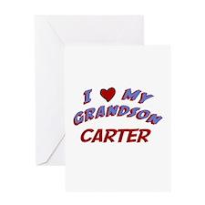 I Love My Grandson Carter Greeting Card