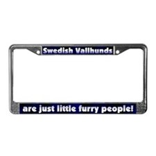 Furry People Swedish Vallhund License Plate Frame