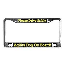 Swedish Vallhund Agility Dog License Plate Frame