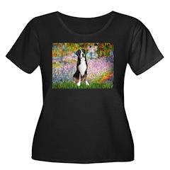Garden / GSMD Women's Plus Size Scoop Neck Dark T-