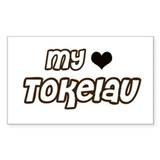 my heart Tokelau Rectangle Decal