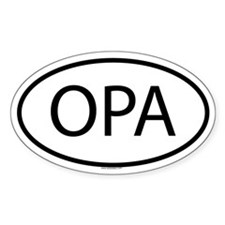 OPA Oval Bumper Stickers