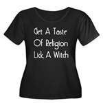 Lick A Witch Women's Plus Size Scoop Neck Dark T-S