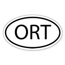 ORT Oval Decal