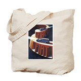 Vintage Fiat Advertising Post Tote Bag
