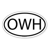 OWH Oval Decal