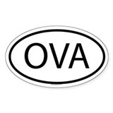 OVA Oval Decal