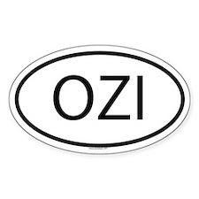 OZI Oval Decal