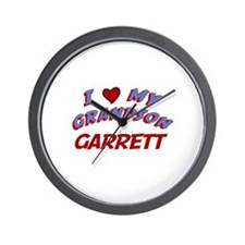 I Love My Grandson Garrett Wall Clock