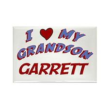 I Love My Grandson Garrett Rectangle Magnet
