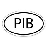 PIB Oval Decal