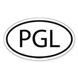 PGL Oval Decal