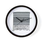 Chic Fashion - Keffiyeh Wall Clock