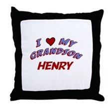 I Love My Grandson Henry Throw Pillow