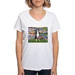 Lilies / GSMD Women's V-Neck T-Shirt