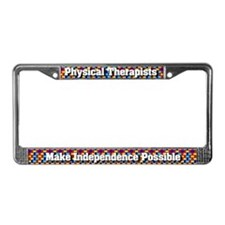 Physical Therapists License Plate Frame
