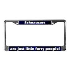 Furry People Schnauzer License Plate Frame