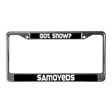 got snow? Samoyed License Plate Frame