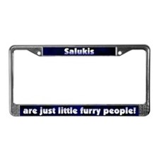 Furry People Saluki License Plate Frame