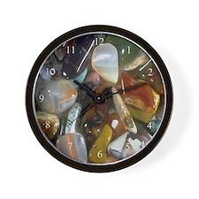Semi Precious Stones Wall Clock