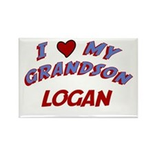 I Love My Grandson Logan Rectangle Magnet
