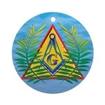 Masonic Acacia on the Pyramid Ornament (Round)
