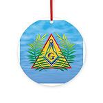 Masonic Acacia on the Pyramid Ornament (Round)