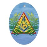 Masonic Acacia on the Pyramid Oval Ornament