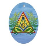 Masonic Acacia on the Pyramid Oval Ornament