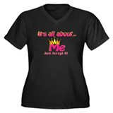 RK It's All About Me Accept I Women's Plus Size V-