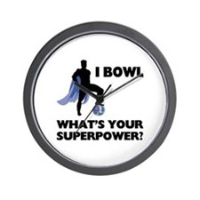 Bowling Superhero Wall Clock