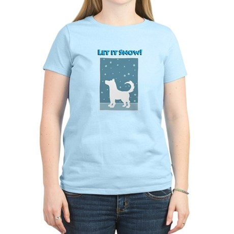 Let It Snow Dog Women's Light T-Shirt